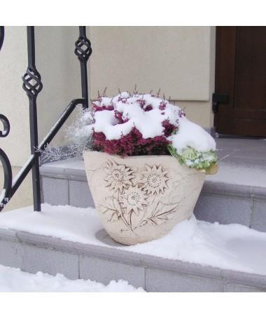 Krepšys keramikos vazonas