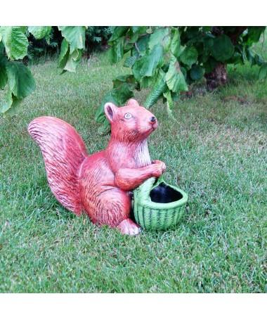 Voverė su krepšeliu 23 keram. figūrėlė