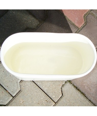Lovelis keramikos 32 cm baltas