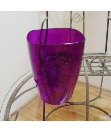 Orchidėjoms vazonas kvadr. violetinis