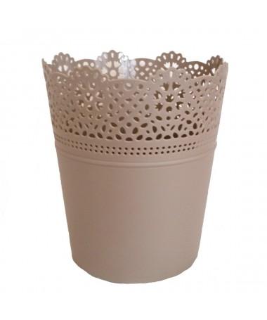 Lace plastiko vazonas rudas