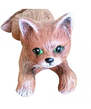 Katinas 19 keram. figurėlė kabinama ant vazono
