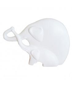 Du drambliukai 22 keram. figurėlė dramblio kaulo sp.