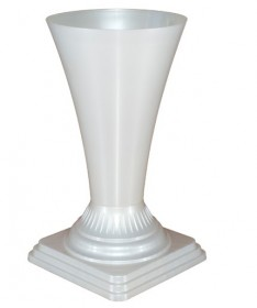 Vaza gėlėms metal 19 balta