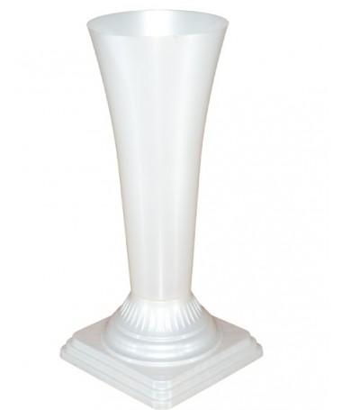 Vaza gėlėms metal 16 balta