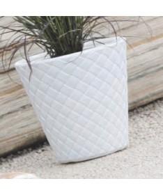 Matuba plastiko vazonas baltas