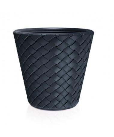 Matuba plastiko vazonas juodos  spalvos