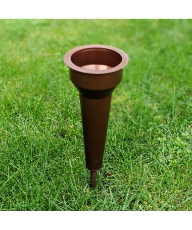 Vaza 7,5 x 24 kapams  įsmeigiama rudos spalvos