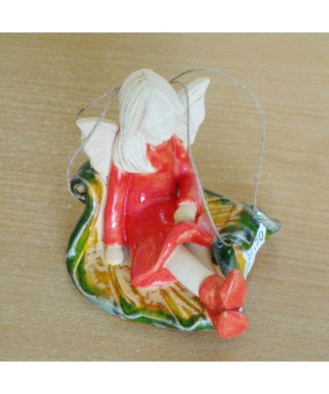Iza pakabinamas šamoto keramikos elfas