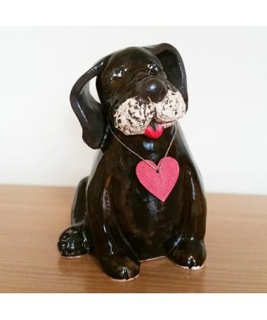 Šuo Benek šamoto keramikos figurėlė
