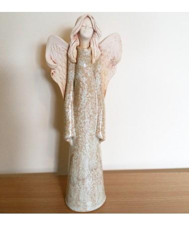 Angelas AN-27 šamoto keramikos figurėlė