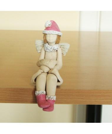 Angelas Iza An-40 šamoto keramikos figurėlė