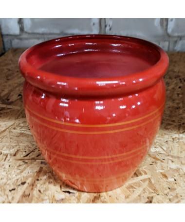 Keramikos vazonas raudonos spalvos