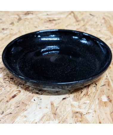 Keramikos padėkliukas 12 cm juodas