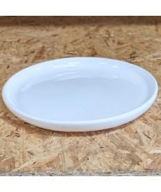 Keramikos padėklas 17 cm baltos spalvos